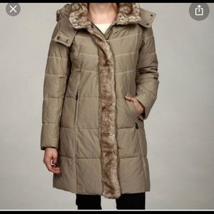 Hilary Radley Long Women's Puffer Coat size L